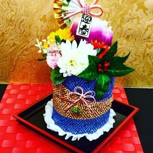 訪日外国人が喜ぶ体験、手ぬぐいケーキ