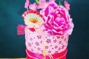 春の手ぬぐいケーキ